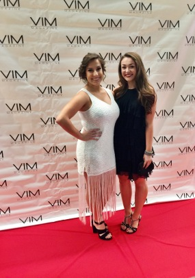 VIM fall launch gala with makeup artist Hannah Kutchinski